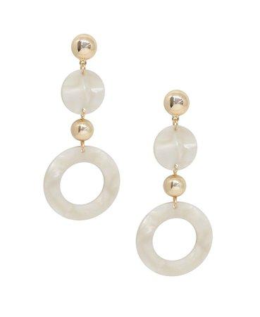 ETTIKA Soft Focus Resin Circle Drop Earrings & Reviews - Earrings - Jewelry & Watches - Macy's