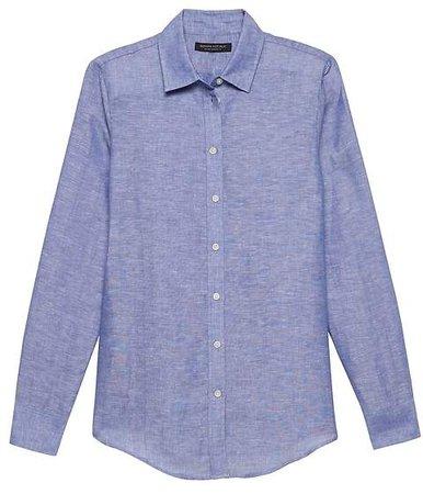 Dillon Classic-Fit Linen-Cotton Shirt