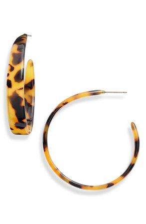 Sterling Forever Graduated Hoop Earrings | Nordstrom