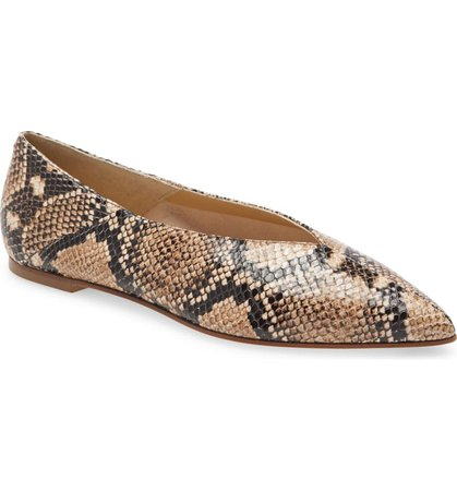 aeyde Moa Pointed Toe Flat (Women) | Nordstrom
