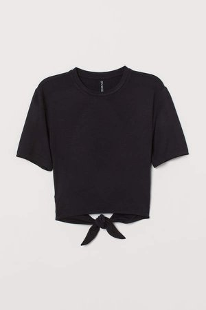 T-shirt with Ties - Black
