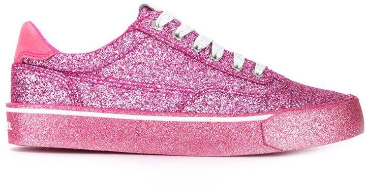 Low-Top Glitter Sneakers