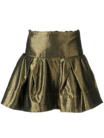 Metallic Ruffle Skirt