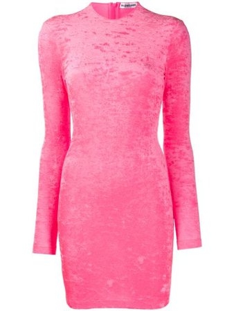 Shop pink Balenciaga long-sleeved cycling mini dress with Express Delivery - Farfetch