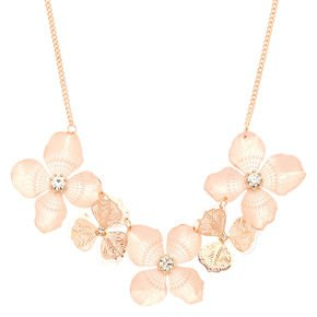 blush necklace floral - Google Search