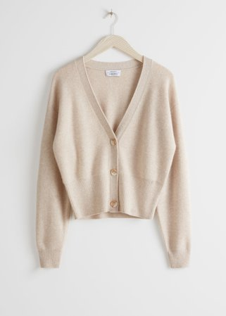 Cropped Cardigan - Beige - Cardigans - & Other Stories