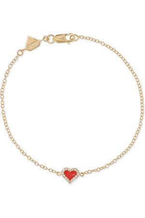 Alison Lou   14-karat gold, diamond and enamel bracelet   NET-A-PORTER.COM