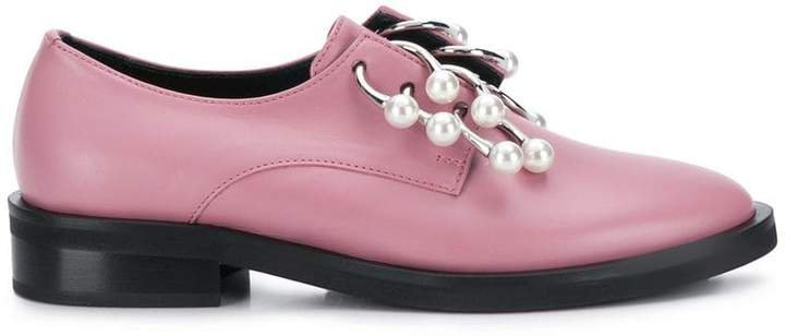 Coliac pearl pierced loafers