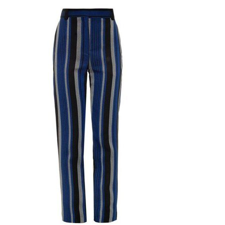 PROENZA SCHOULER Striped sponge crepe trousers