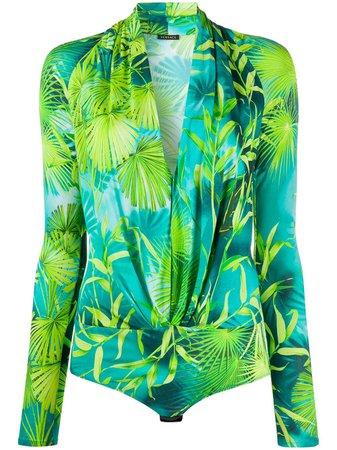 Versace Palm Tree Print Body Suit - Farfetch