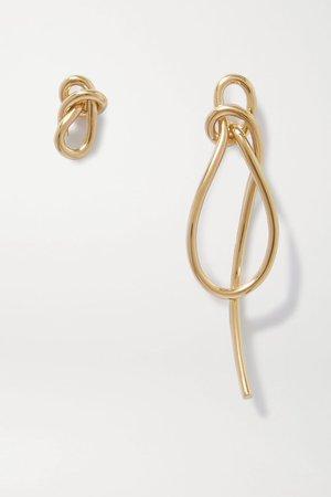 Gold Thread gold vermeil earrings | Completedworks | NET-A-PORTER