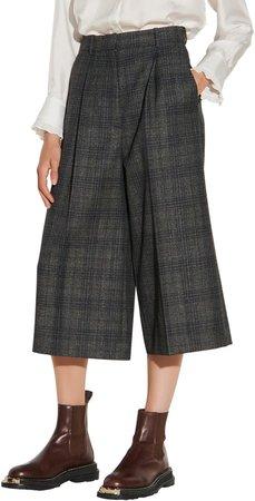 Plaid Wide Leg Crop Pants