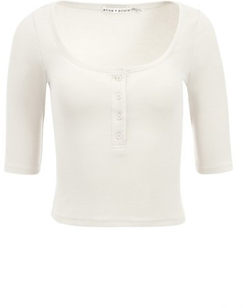 Mindy Button Front Tee