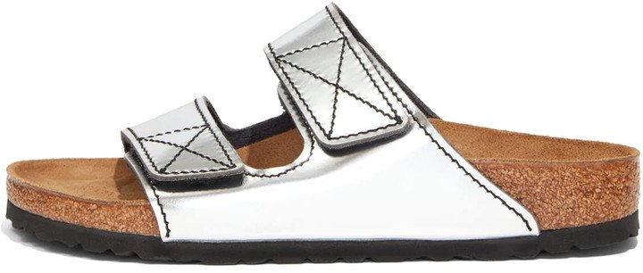 x Birkenstock Arizona Sandal in Silver