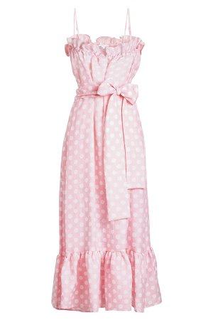 Liz Printed Linen Maxi Dress Gr. 3
