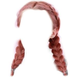 PINK HAIR BRAIDS PNG