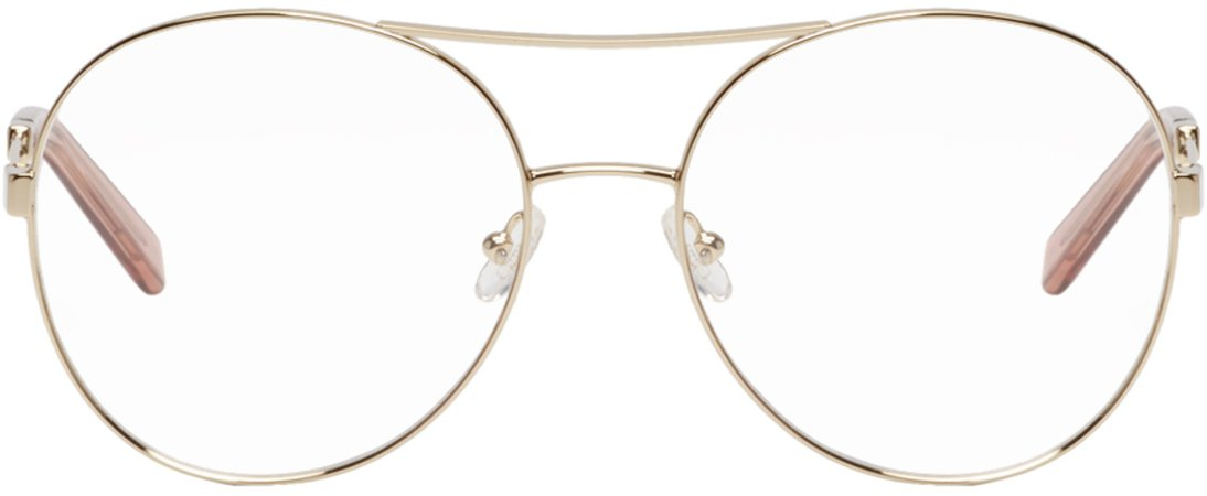 Chloé  Gold Jacky Aviator Glasses €225 EUR