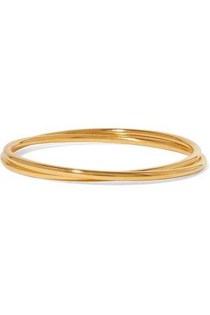 Sophie Buhai | Set of two gold vermeil bangles | NET-A-PORTER.COM