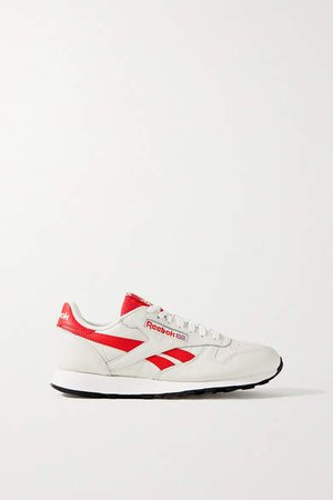 Classic Leather And Mesh Sneakers - Off-white