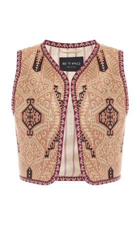 Cropped Jacquard Vest by Etro   Moda Operandi
