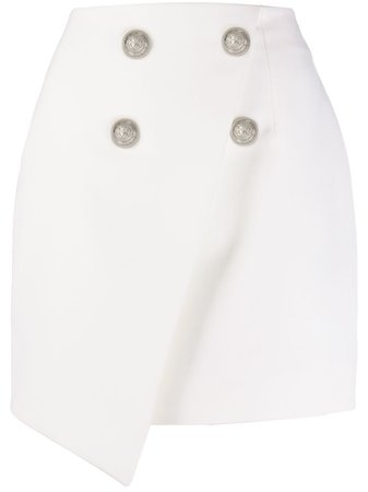 Balmain Asymmetric double-breasted mini-skirt - Farfetch