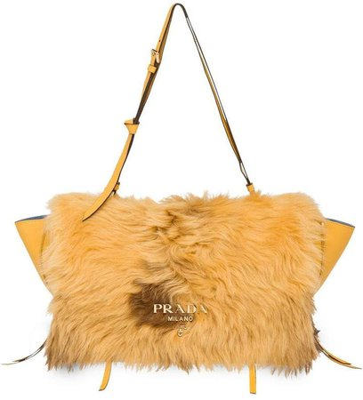 shearling detail bag
