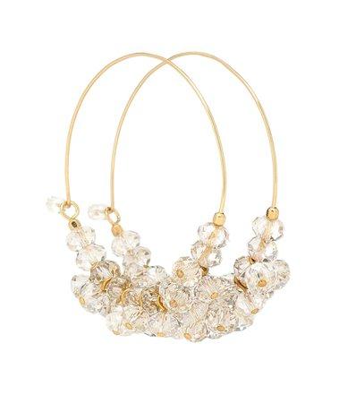 Isabel Marant - Polly embellished hoop earrings | Mytheresa
