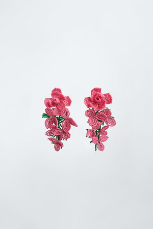 ROSES EARRINGS | ZARA United States