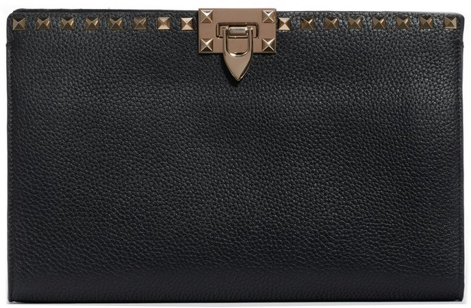 Large Rockstud Leather Pouch