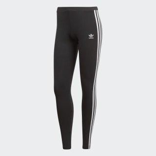 adidas 3-Stripes Leggings - Black | adidas UK