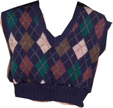 cropped vintage sweater vest