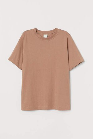 Cotton T-shirt - Beige