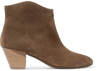 Dicker Suede Ankle Boots - Taupe
