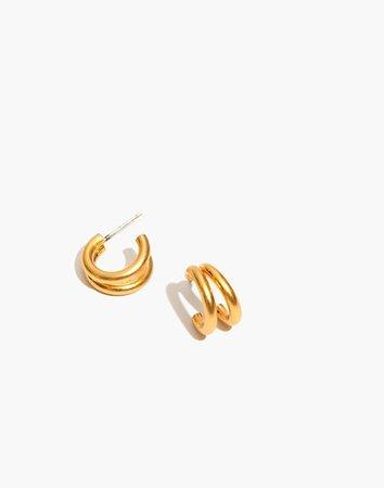 Split Mini Hoop Earrings