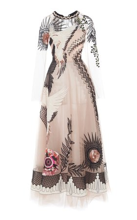 Opera Sequined Embroidered Tulle Gown by Temperley London | Moda Operandi