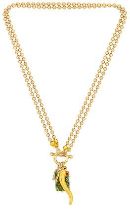 joolz by Martha Calvo Lucky Me Necklace en Gold | REVOLVE