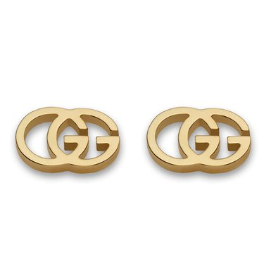Gucci Double G 18ct Gold Stud Earrings | 0005220 | Beaverbrooks the Jewellers