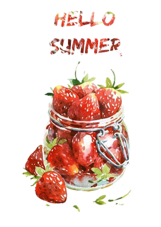 Hello Summer Strawberries