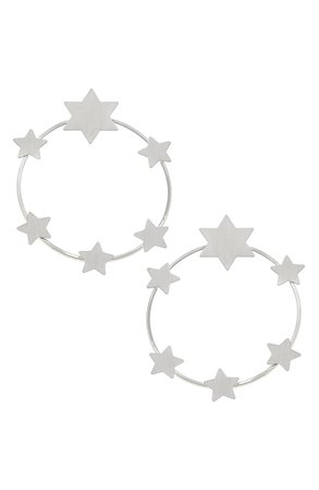 Canvas Jewelry Juliette Star Hoop Earrings | Nordstrom