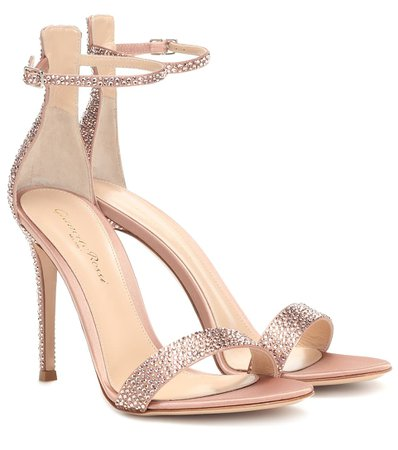 Gianvito Rossi - Glam crystal-embellished sandals | Mytheresa