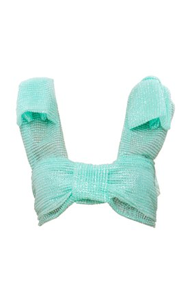 Mach & Mach Pastel Blue Sparkling Bow Top