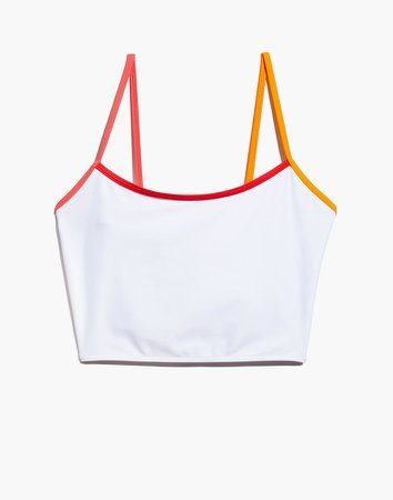 x Solid & Striped Colorblock Tipped Nicole Tank Bikini Top