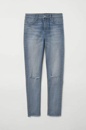Skinny Regular Ripped Jeans - Blue