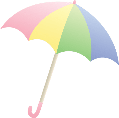 pastel rainbow umbrella