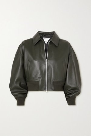 Leather Jacket - Green