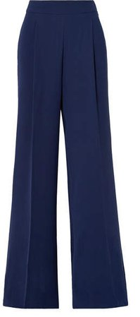Cady Wide-leg Pants - Navy