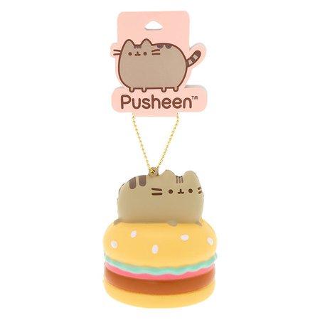 Pusheen™ Hamburger Squish Keychain Toy | Claire's US