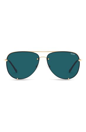 Quay Australia High Key 65mm Oversize Rimless Aviator Sunglasses | Nordstrom