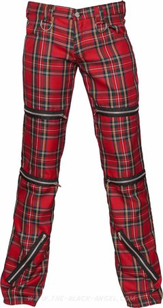 Destroy pants tartan red by Black Pistol