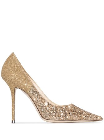 Jimmy Choo, Love 100Mm Glittered Pumps